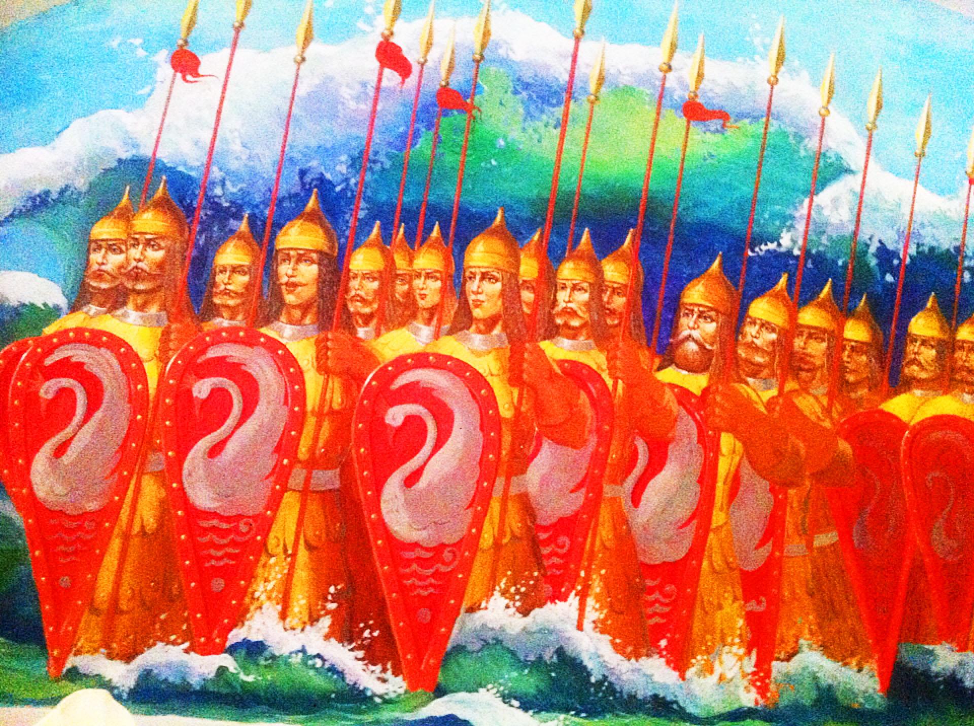 Картинки тридцать витязей прекрасных чредой из вод выходят ясных